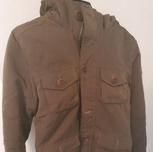 Boys size 11/13 Abercrombie kids fur lined coat